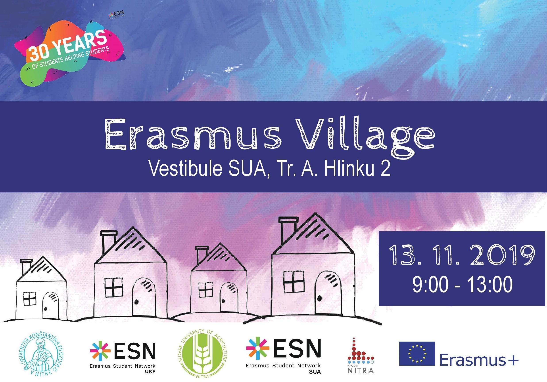 Pozývame vás na ERASMUS VILLAGE