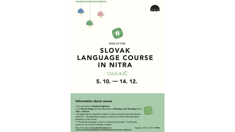 Sign up for a Slovak language course